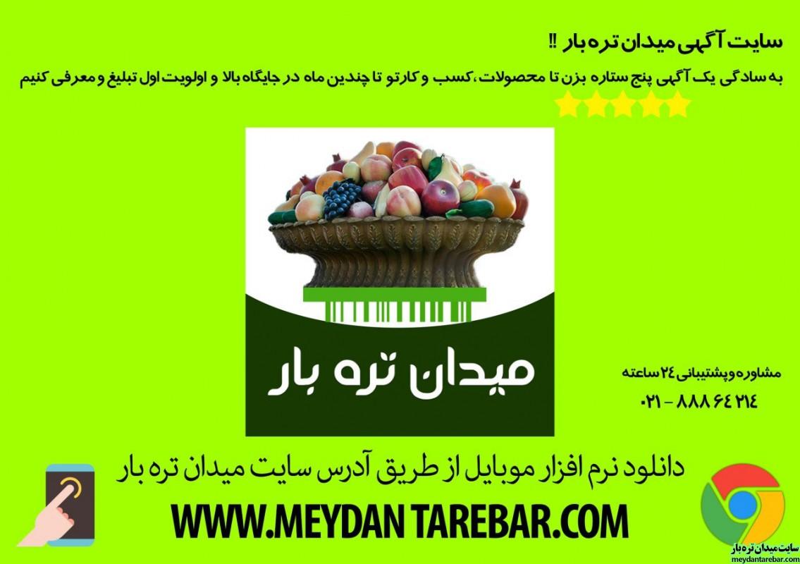 تصویر شماره سایت و نرم افزار میدان تره بار سایت آگهی خرید و فروش میوه توسط میوه فروشان و بارفروشان عمده